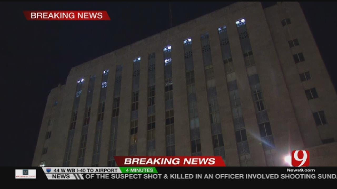 Officials Respond To Reported Fire At Oklahoma County Courthouse