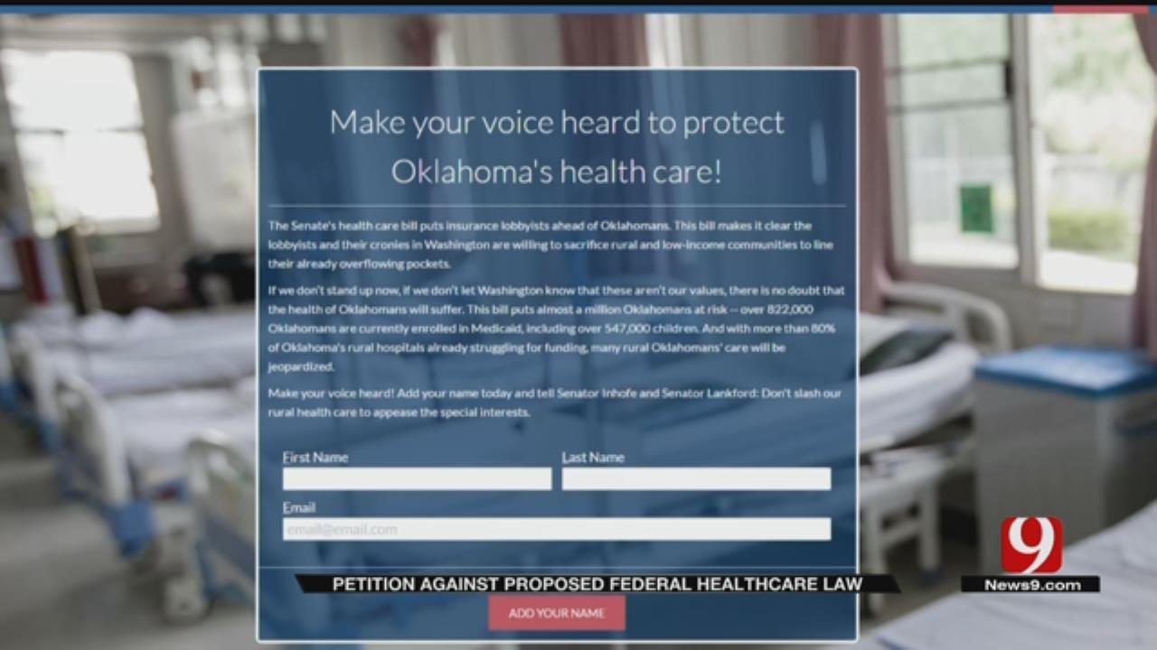Gubernatorial Candidate Launches Petition Against Senate Health Care Bill