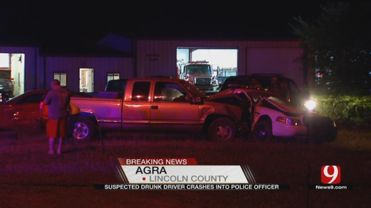 Suspected Drunk Driver Crashes Into Police Officer