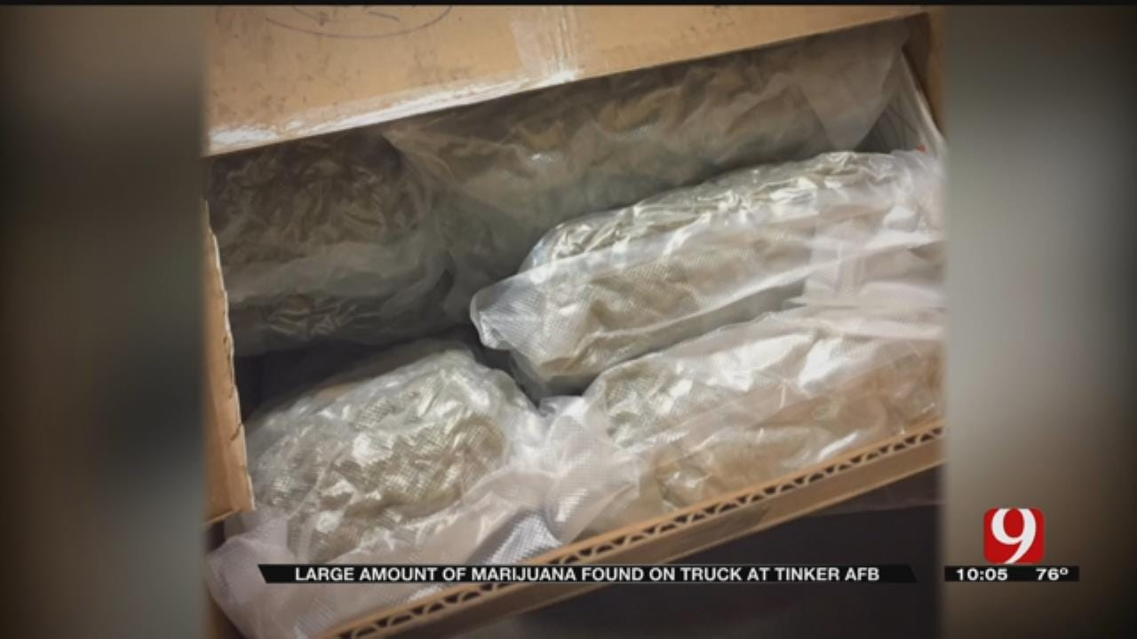 More Than 700 Pounds Of Pot Seized From Semi At Tinker AFB