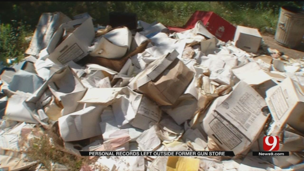 Customer Information Found Piled Outside Closed Metro Gun Store