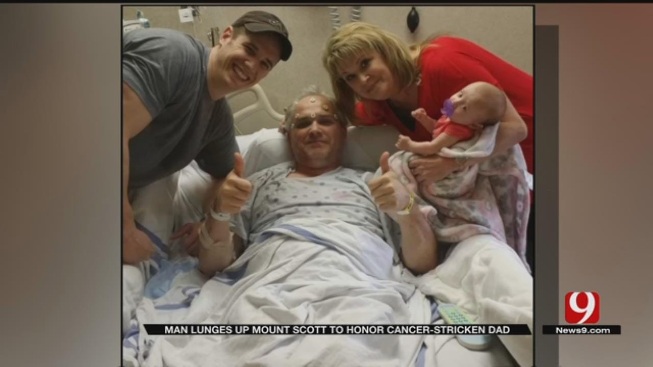 Oklahoma Man Lunges Mount Scott For Father Battling Cancer