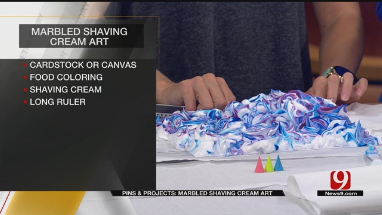 Pins & Projects: Marbled Shaving Cream Art