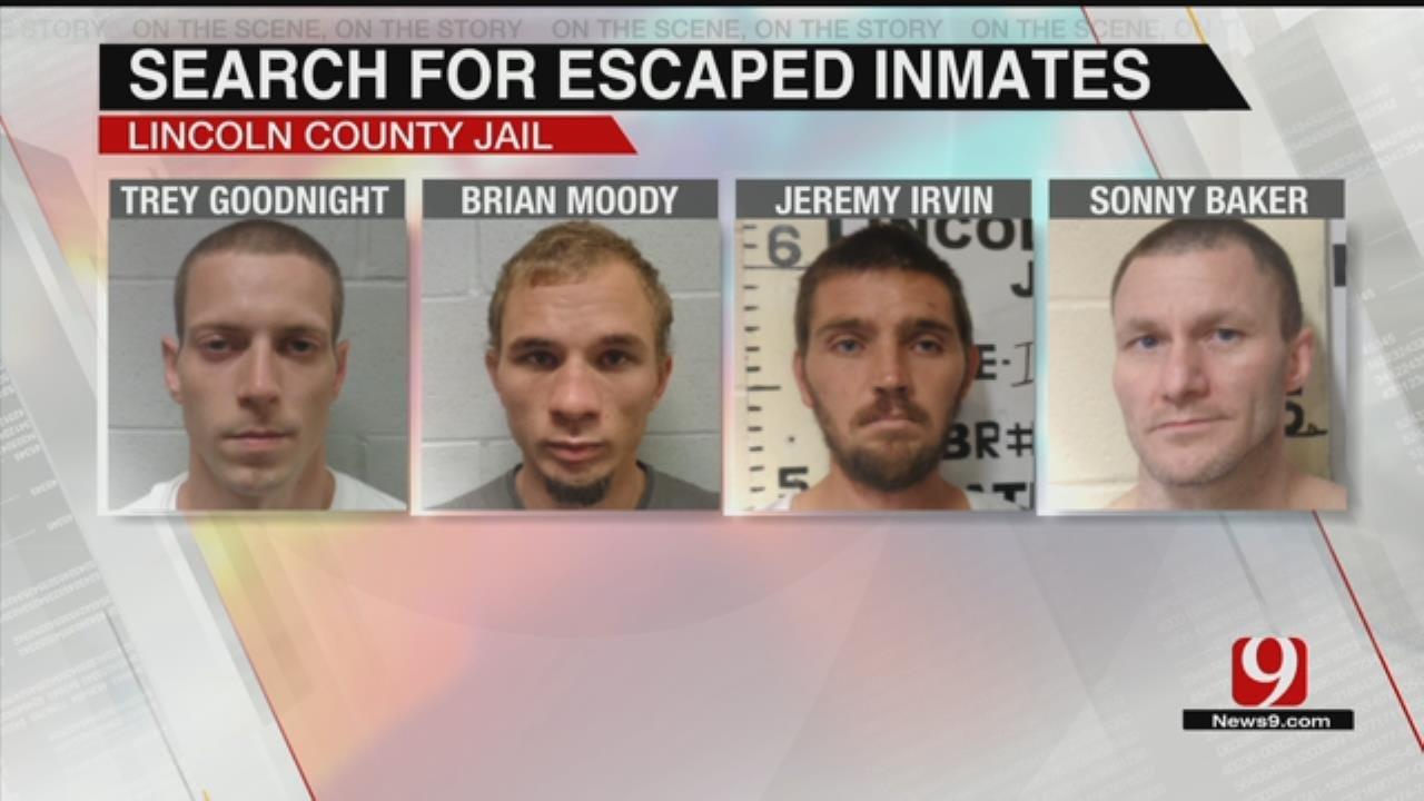 4 Lincoln County Jail Escapees Remain At Large