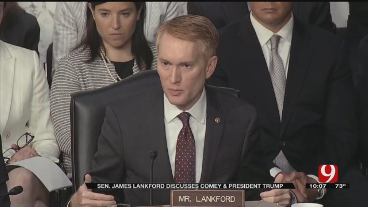 Sen. Lankford Talks Comey's Testimony As Trump Fires Back