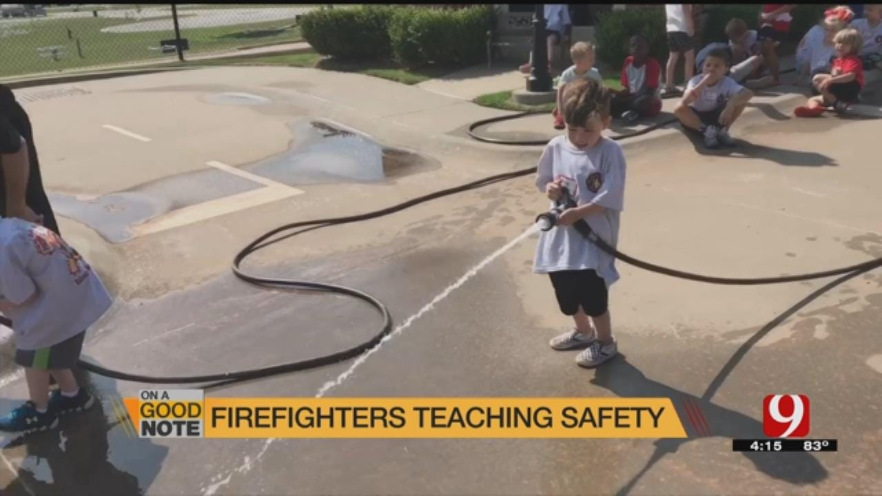 GOOD NOTE: Edmond Fire Department Teaches Kids About Fire Safety