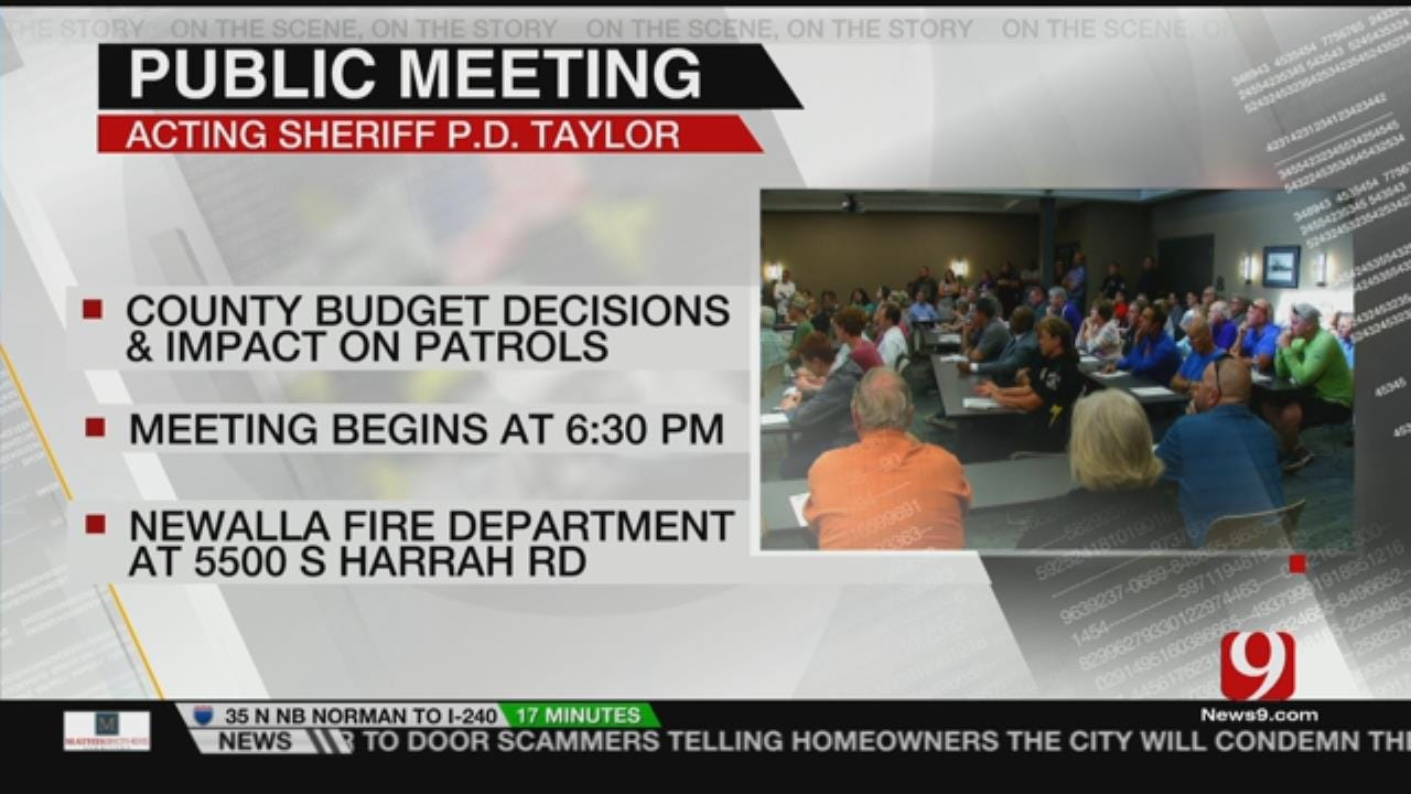OCSO Hosting Town Hall For Eastern OK County Residents Tonight