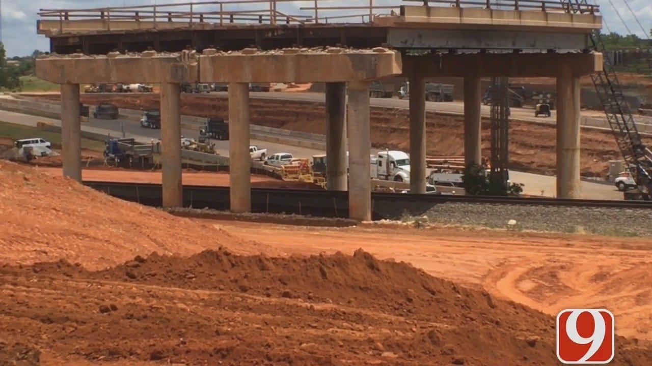 Crews Working Around The Clock To Finish I-235 Construction