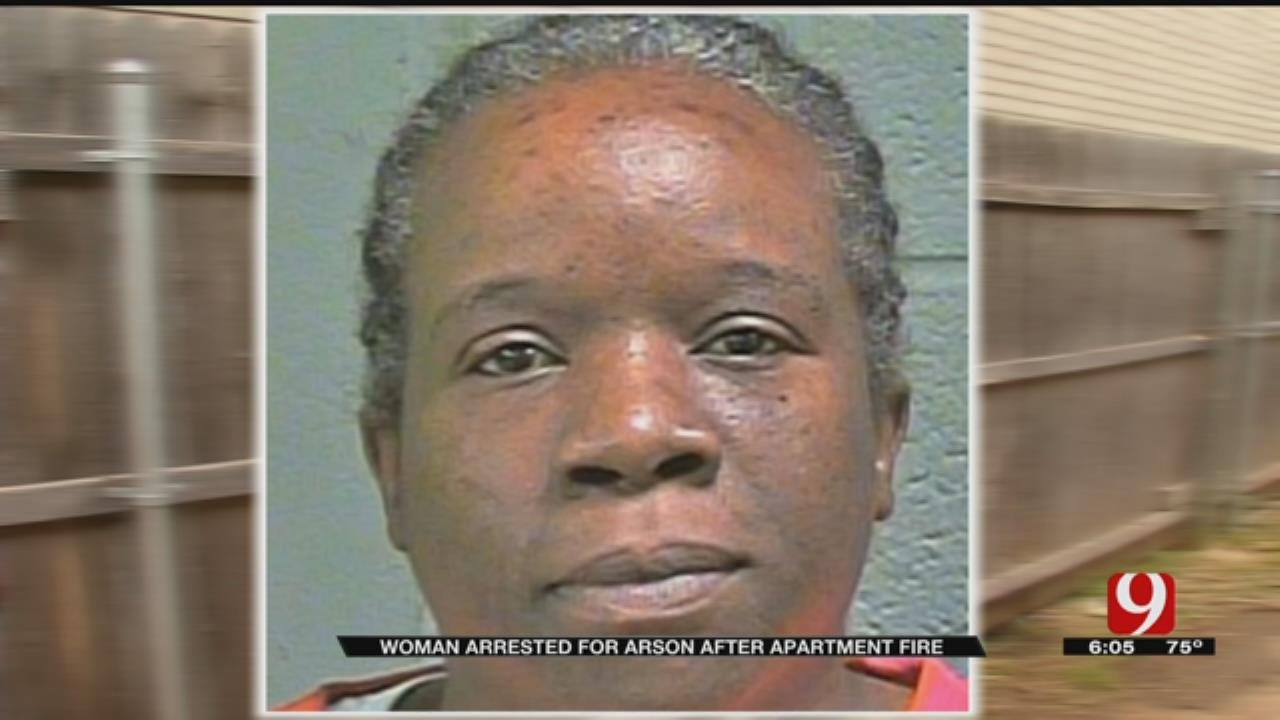 Woman Arrested For Arson Following NW OKC Apartment Fire