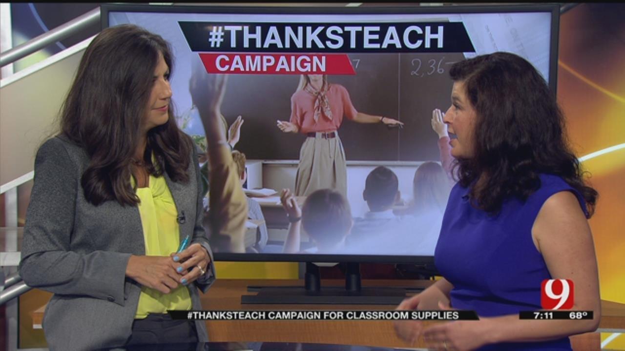 #ThanksTeach Campaign For Classroom Supplies
