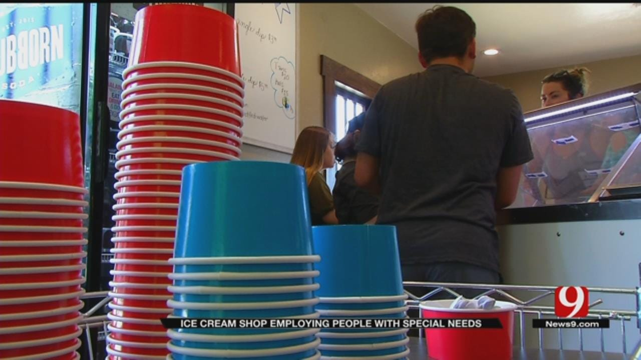 New Edmond Ice Cream Shop Employs Workers With Special Needs