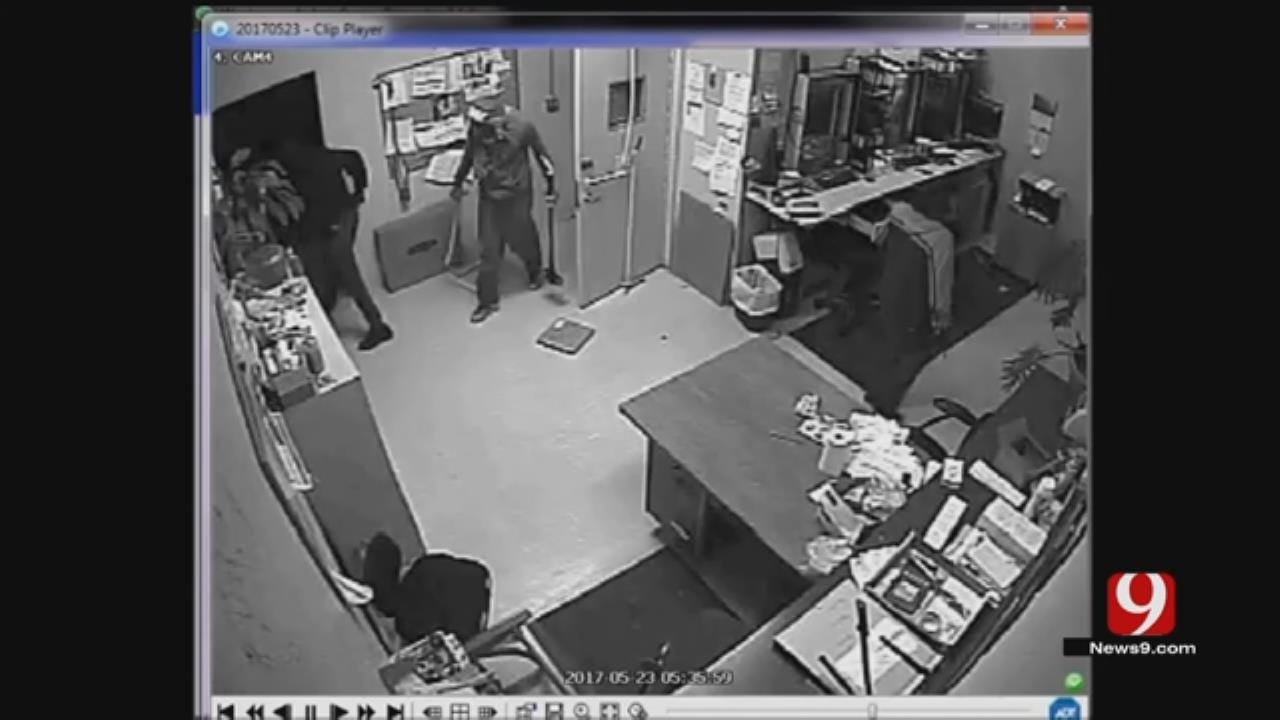 Camera Captures Smash-And-Grab Burglary At SW OKC Business