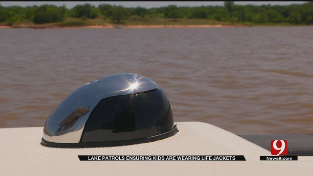 Lake Patrols Ensuring Kids Are Wearing Life Jackets