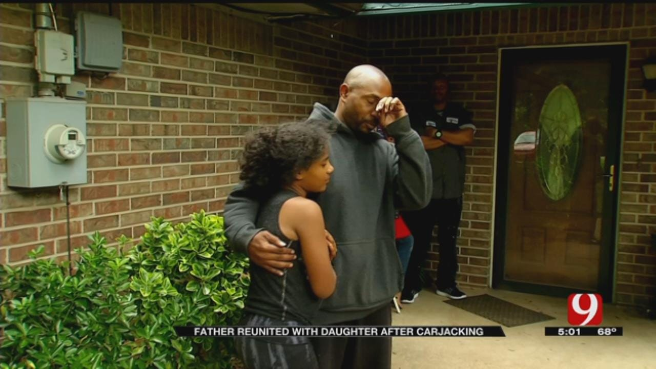 OKC Father, Daughter Reunited After Suspect Steals Car, Kidnaps Child