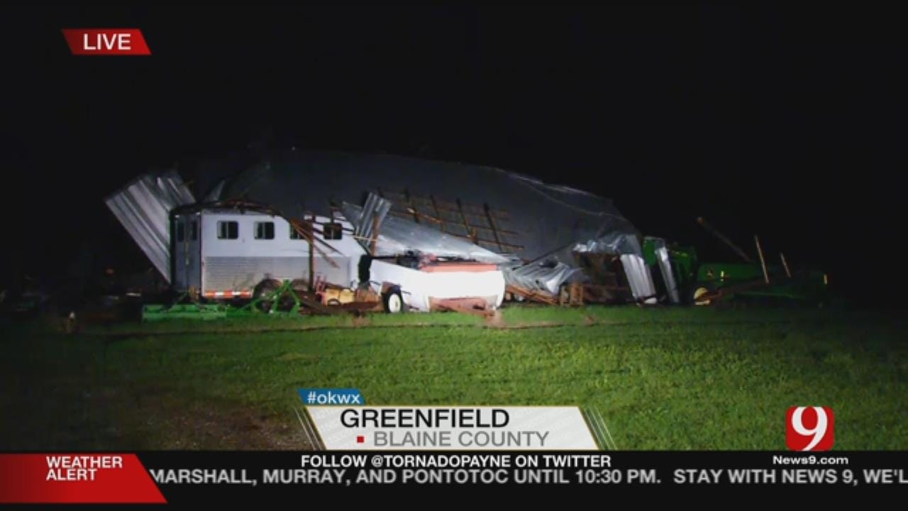 High Winds Damage Homes In Greenfield