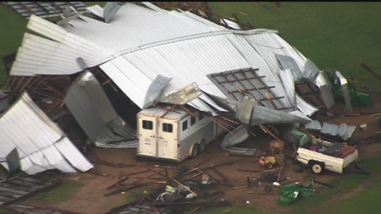 WEB EXTRA: Sky News 9 Flies Over Storm Damage In Greenfield