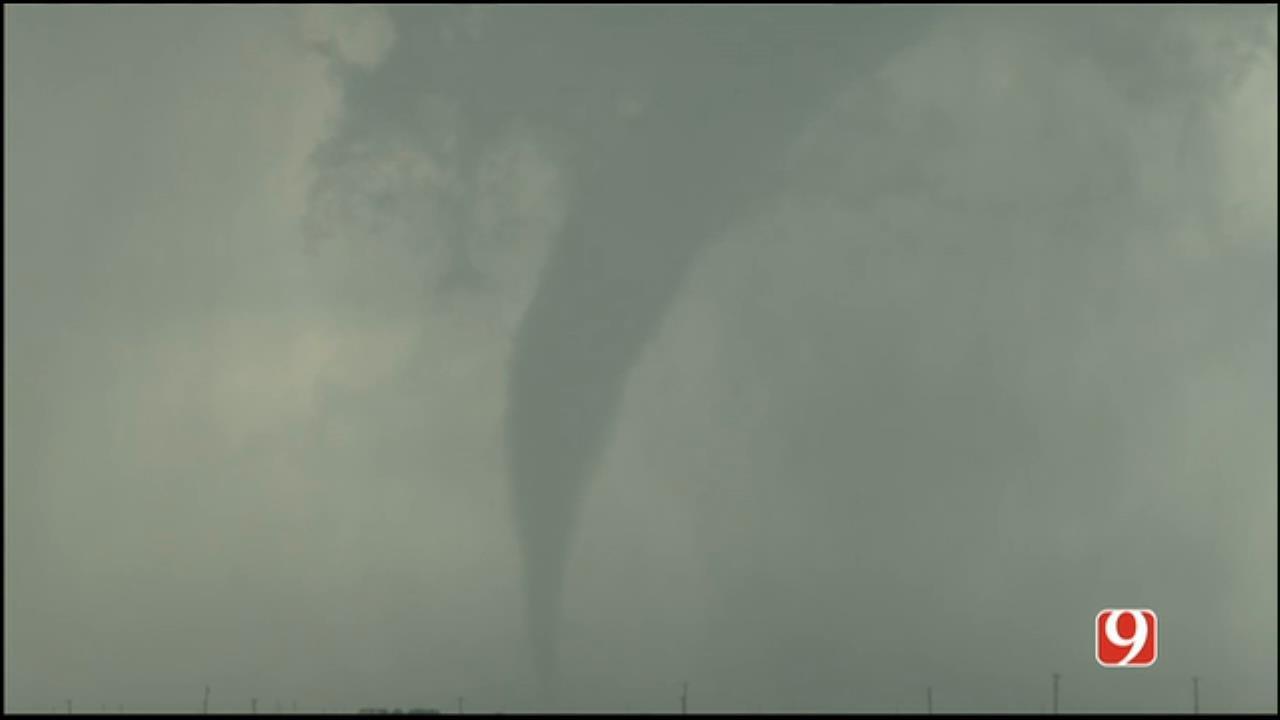 WEB EXTRA: StormTracker Hank Brown Captures Small Tornado Near Duke