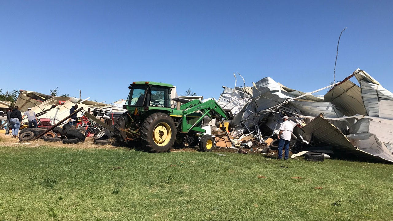 Elk City Woman Loses Mobile Home In Tuesday's Tornado