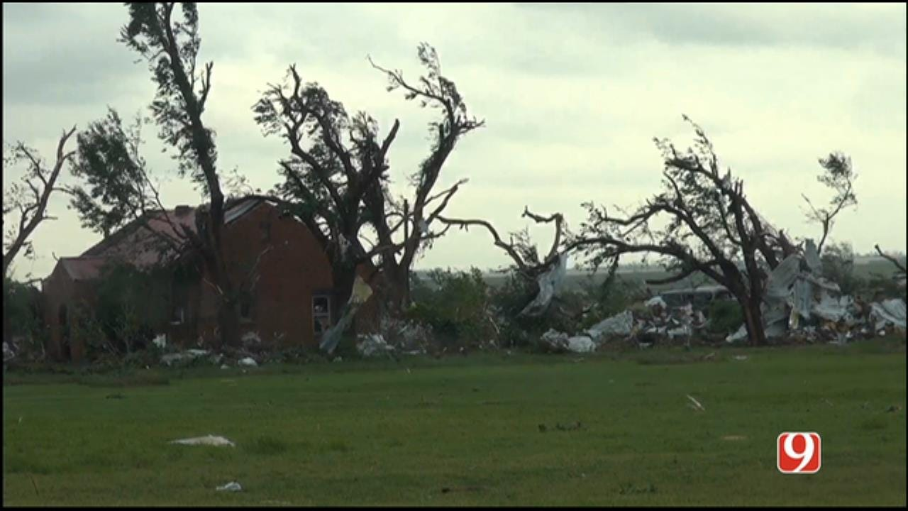 WEB EXTRA: Heavy Damage Observed In Elk City