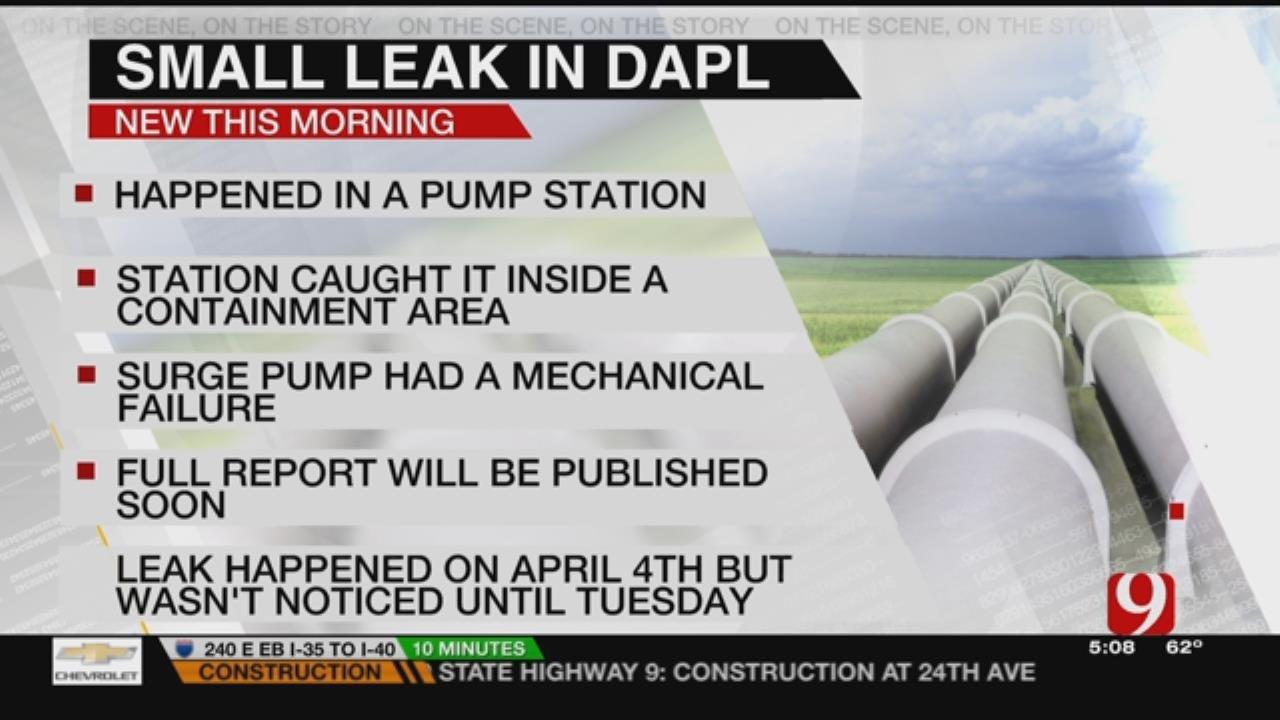 Dakota Access Pipeline Leaked 84 Gallons Of Oil In April