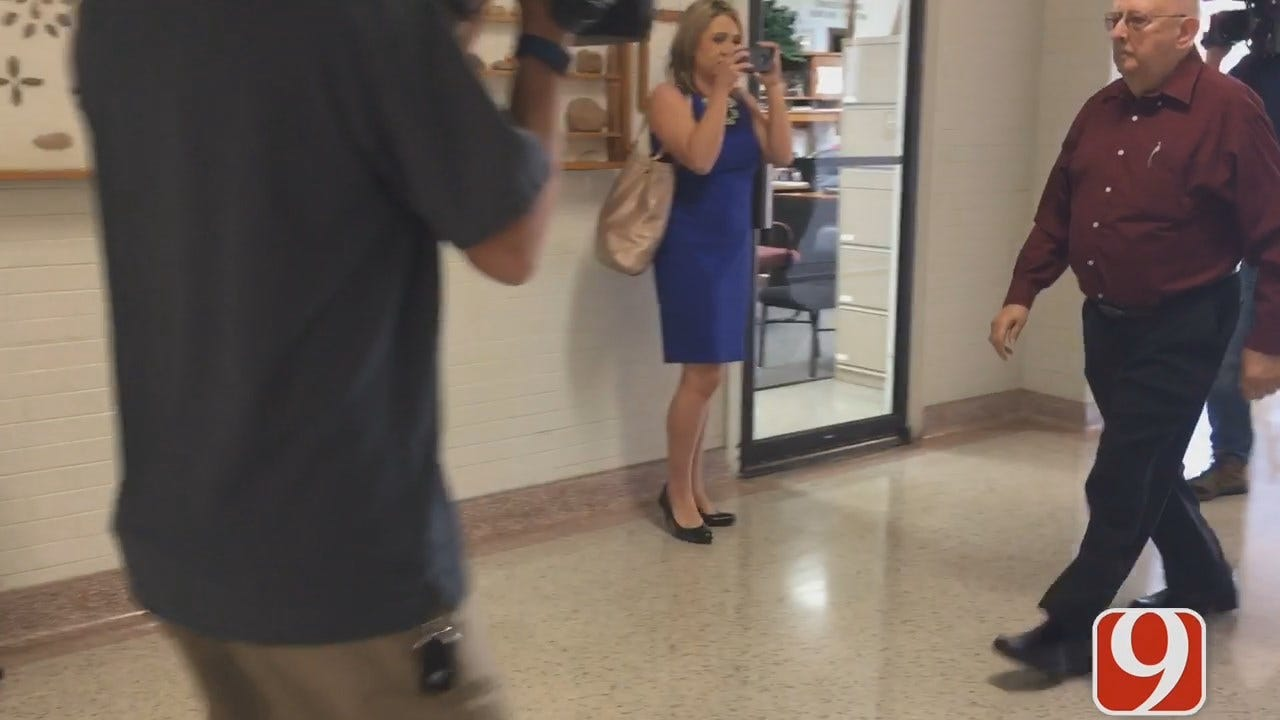 WEB EXTRA: Teacher's Assistant Accused of Molestation Case Arrives At Courthouse