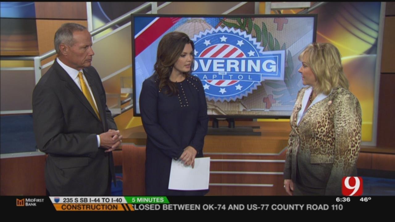 Gov. Fallin Visits News 9 This Morning