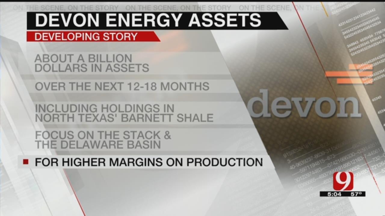 Devon Energy Announces Plans To Sell Assets