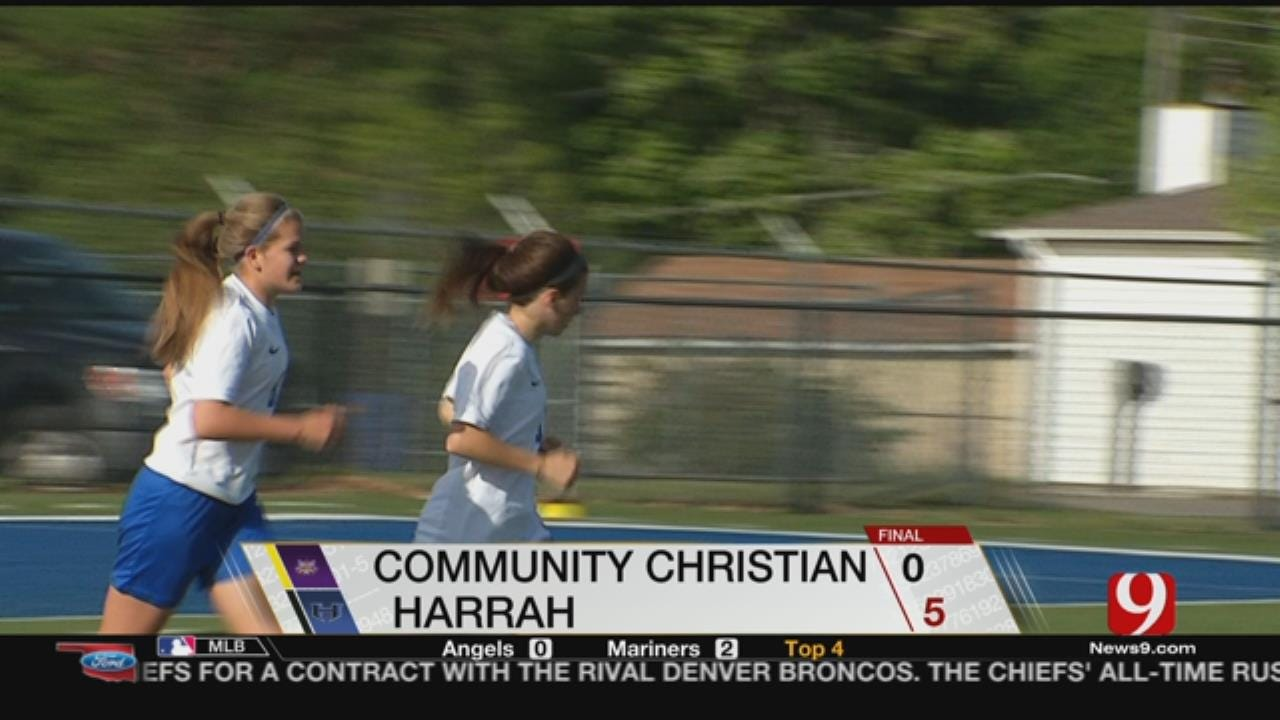 Harrah Beats Community Christian, 5-0