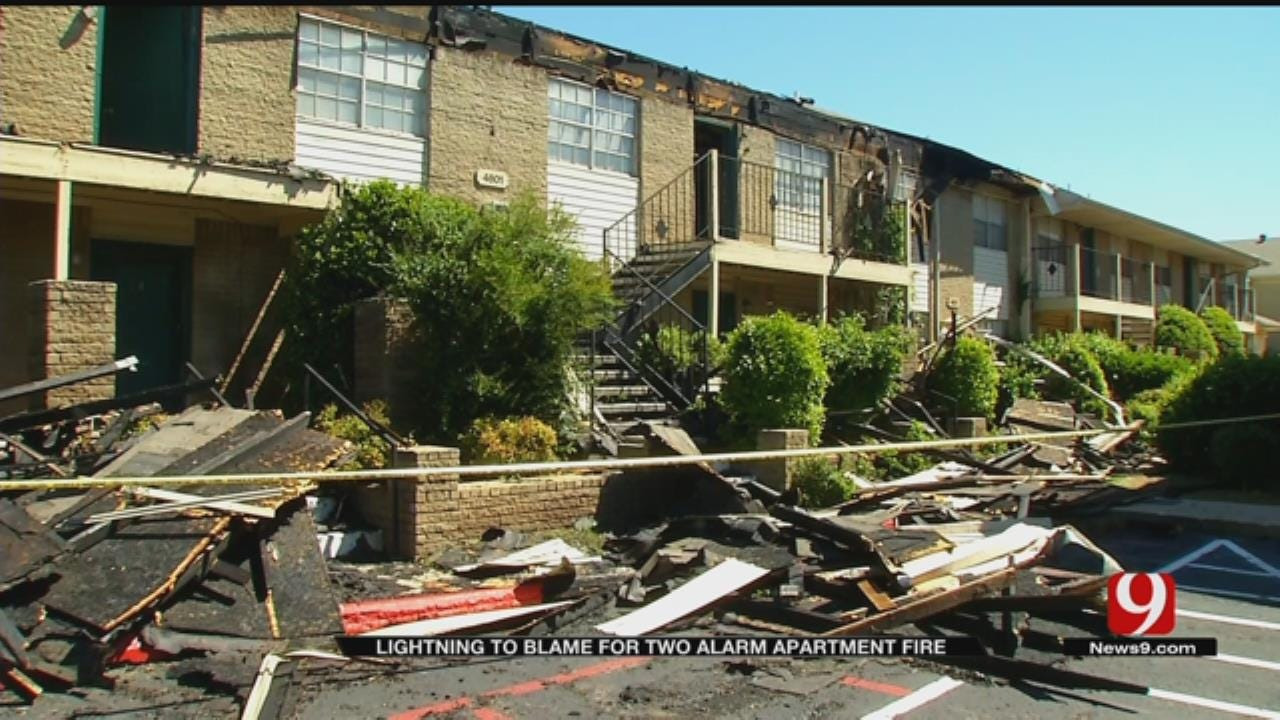 Lightning Strike Blamed For NW OKC Apartment Fire, Officials Confirm