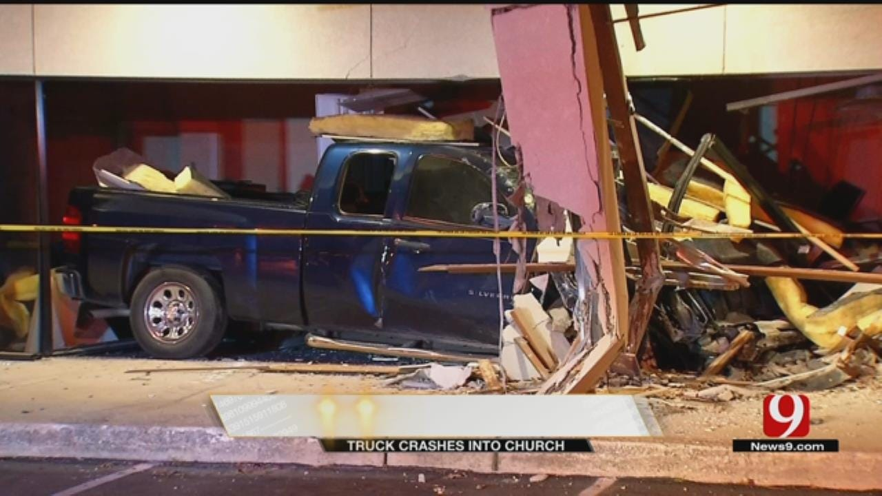 Pastor Shocked, But Grateful After Truck Plows Into Norman Church