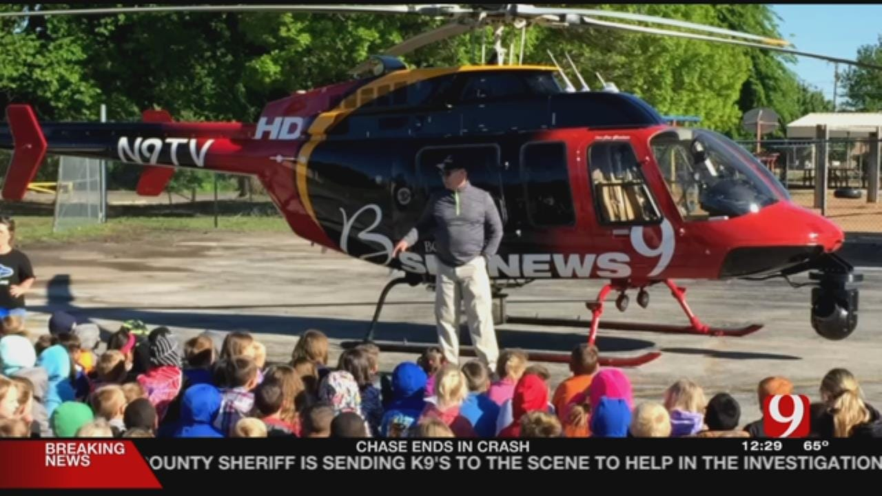 WEB EXTRA: News 9's Jim Gardener Visits Cotteral Elementary School In Guthrie