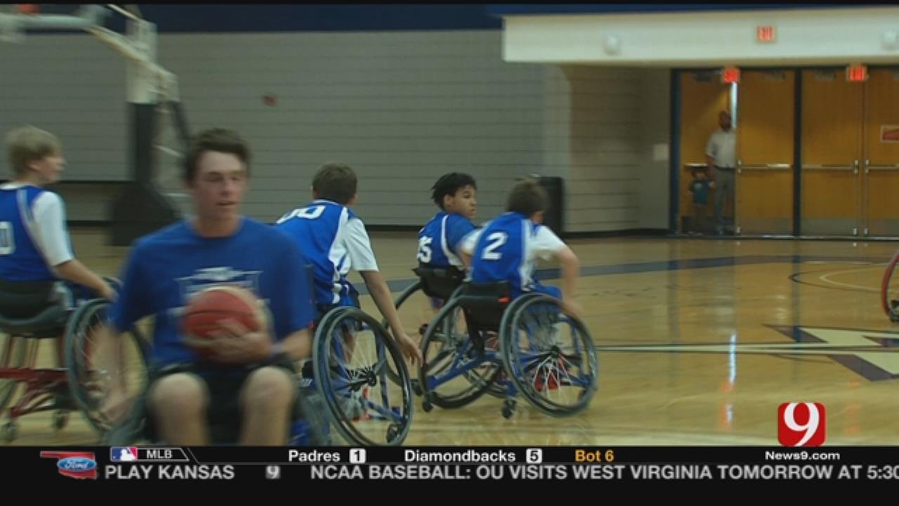 OU Physicians Games Plays Wheelchair Basketball