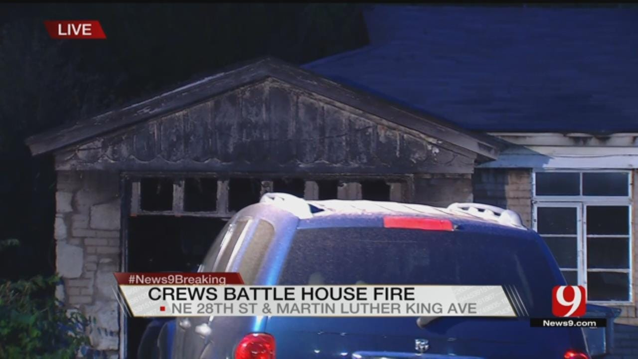 Firefighters Fight House Fire In NE OKC