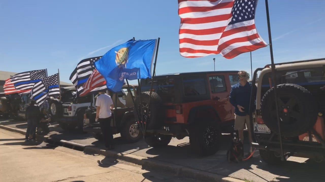 WEB EXTRA: Hundreds Join In Motorcade To Honor Logan County Deputy David Wade