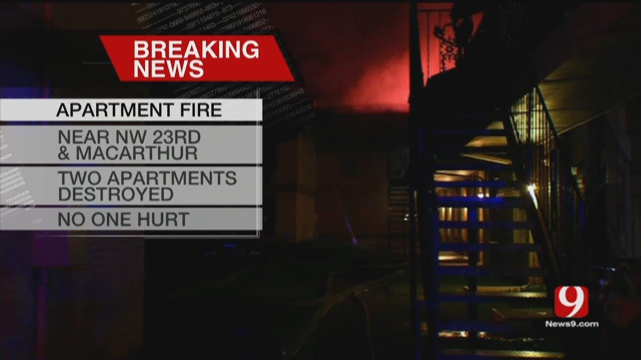 Two Units Destroyed After Apartment Fire In NW OKC