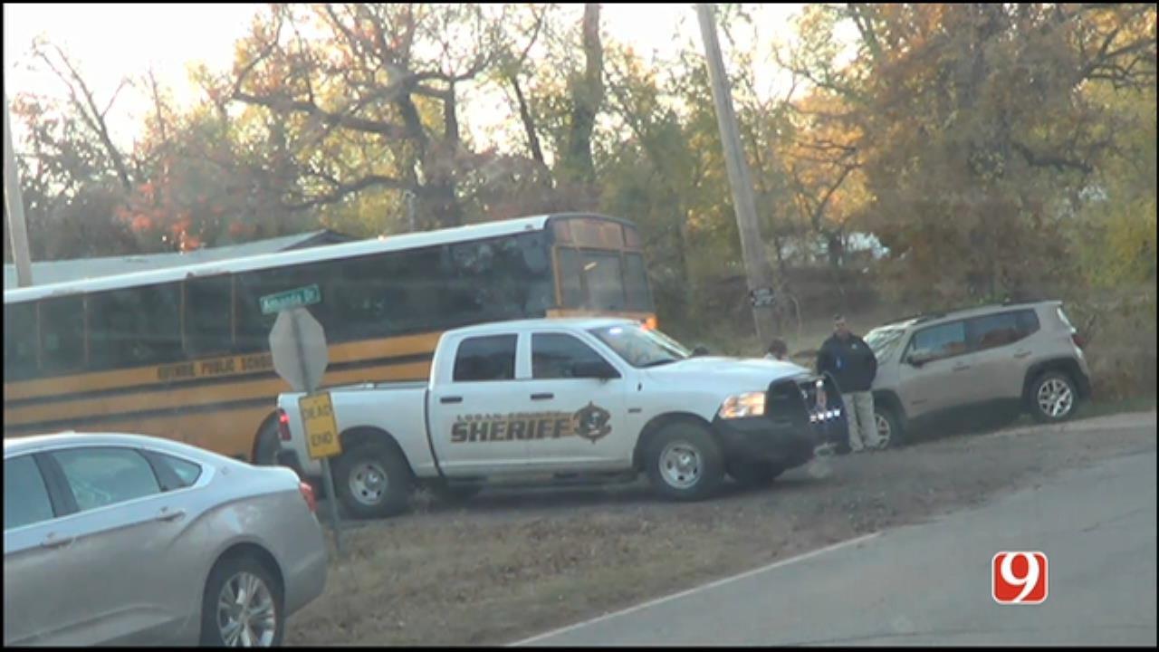 WEB EXTRA: News 9 Crew On Scene Of Guthrie School Bus Crash