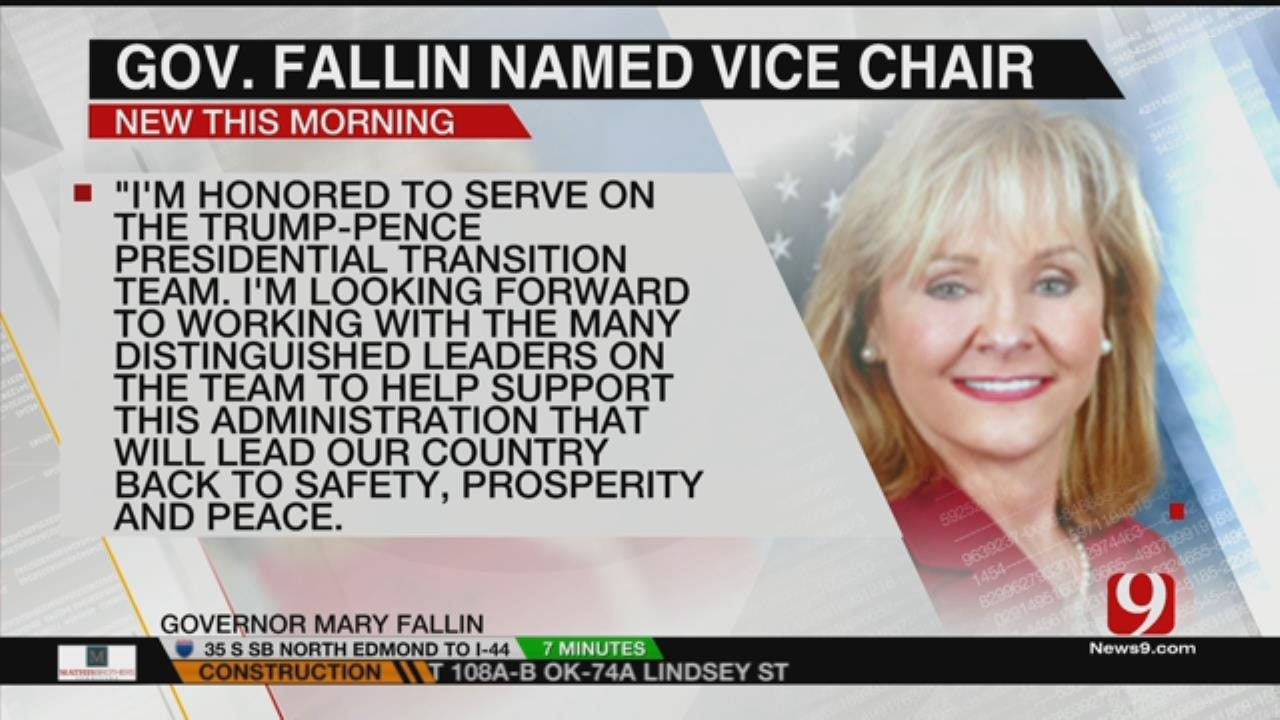 Fallin Named A Vice Chair To Trump-Pence Transition Team
