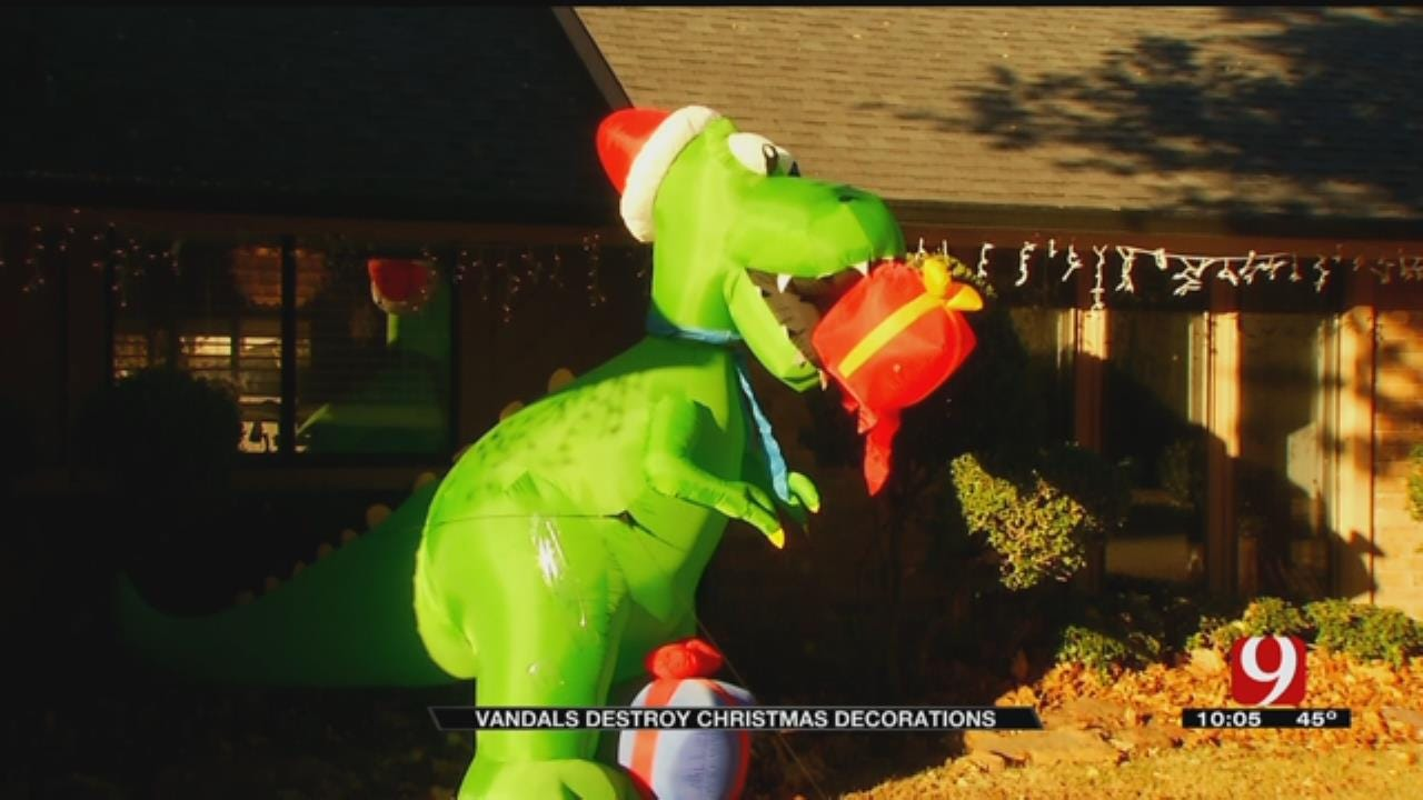 Vandals Destroy Christmas Decorations In NW OKC