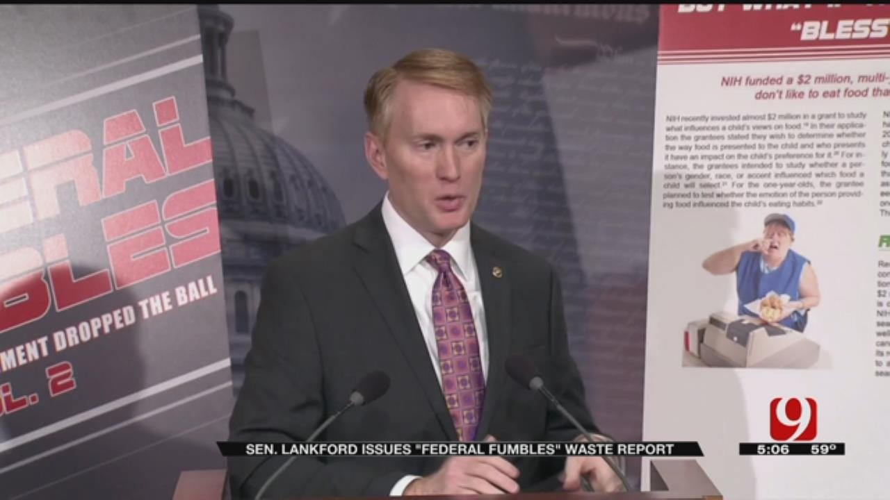 Lankford Issues Second Annual 'Federal Fumbles' Waste Report