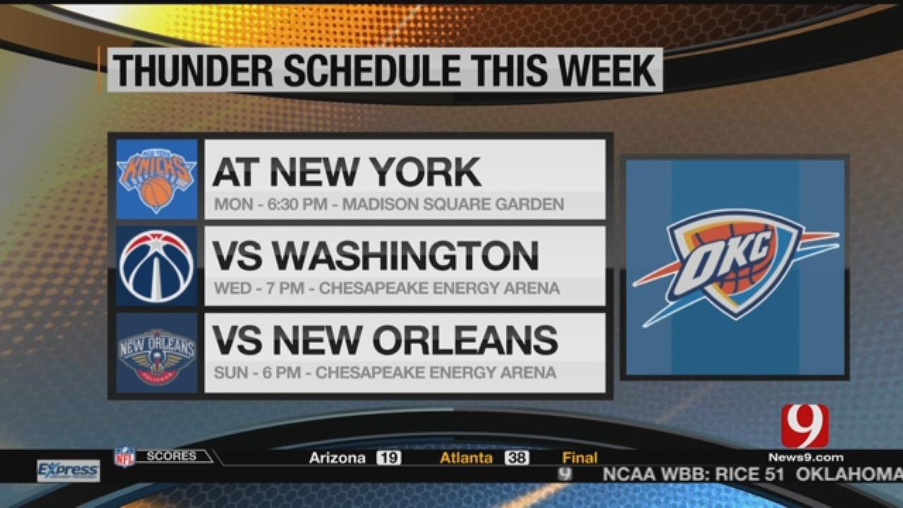 Thunder Face Knicks Monday Night