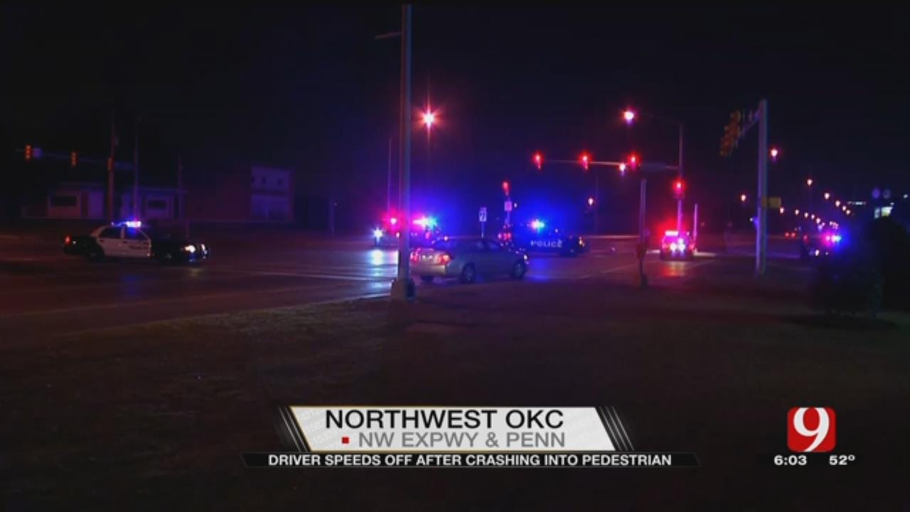 Driver Speeds Off After Crashing Into Pedestrian In NW OKC