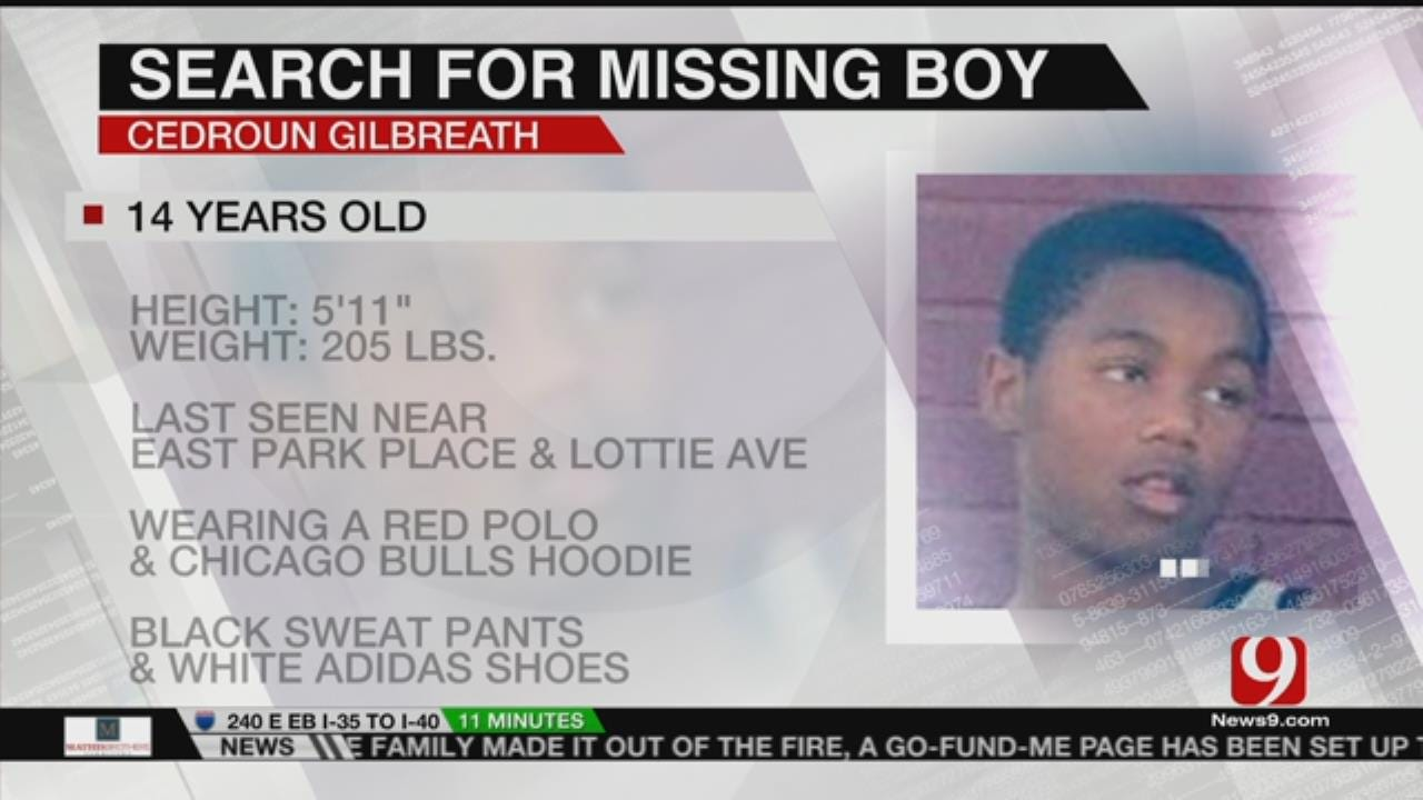 OKC Police Searching For Missing 14-Year-Old Boy