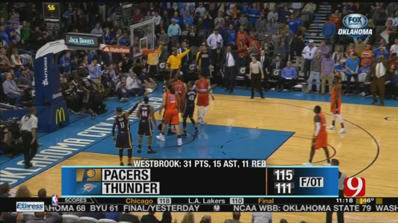 Westbrook Records Fifth Triple-Double But Thunder Fall To Pacers In OT