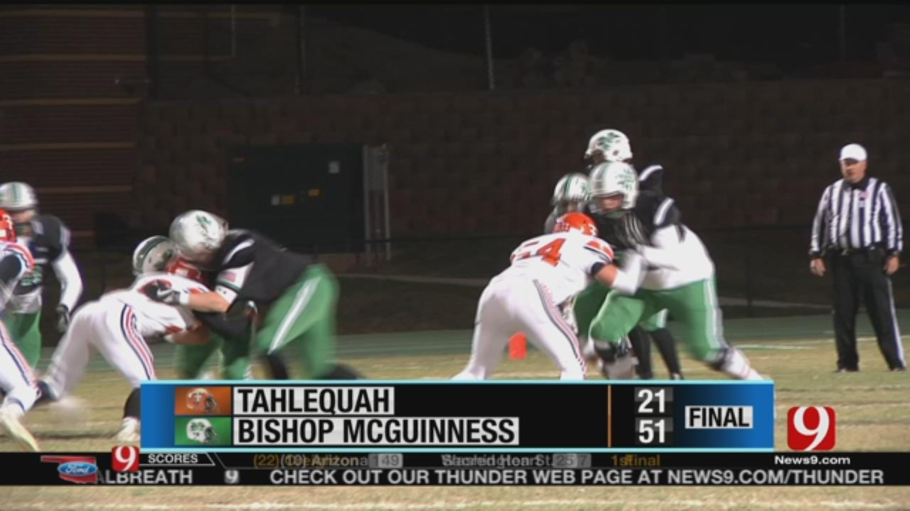 Bishop McGuinness Pulls Away From Tahlequah