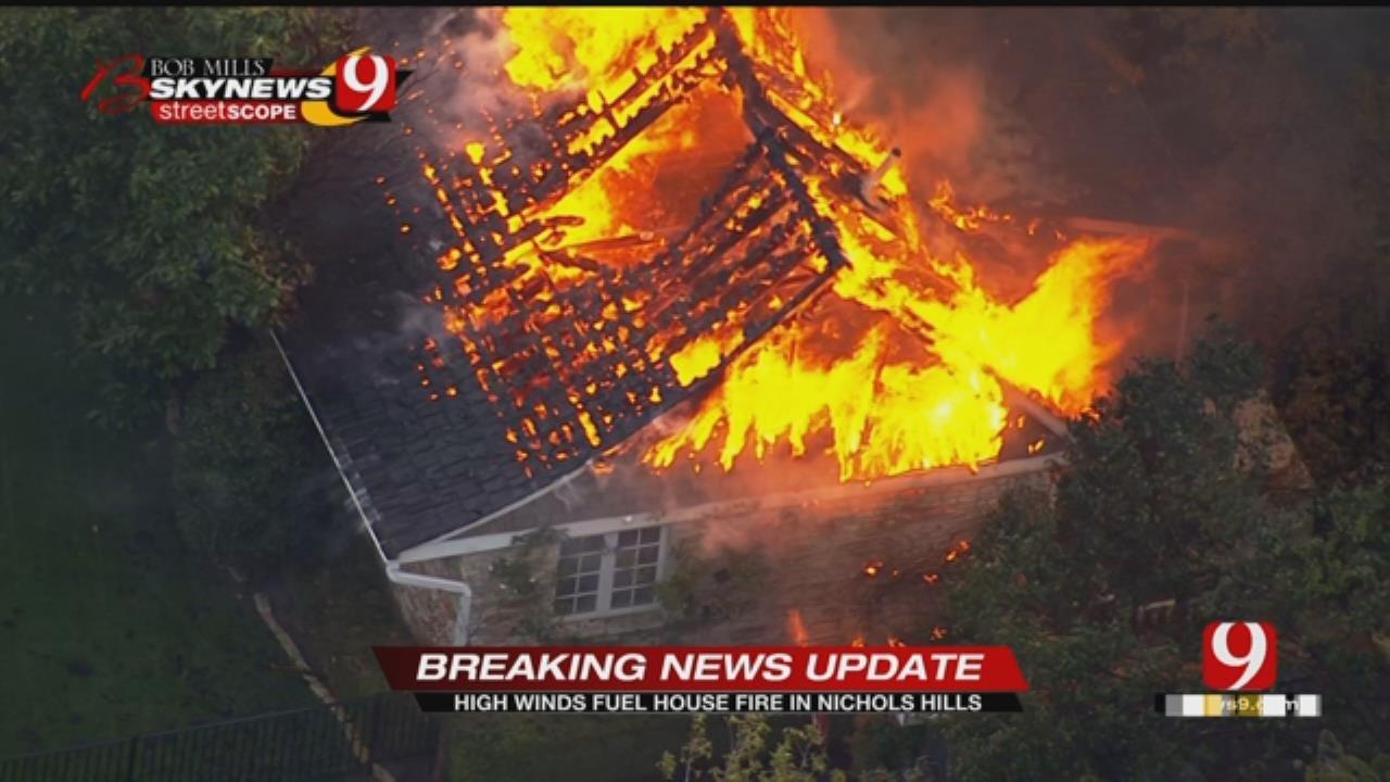 Fire Ravages Million-Dollar Home In Nichols Hills