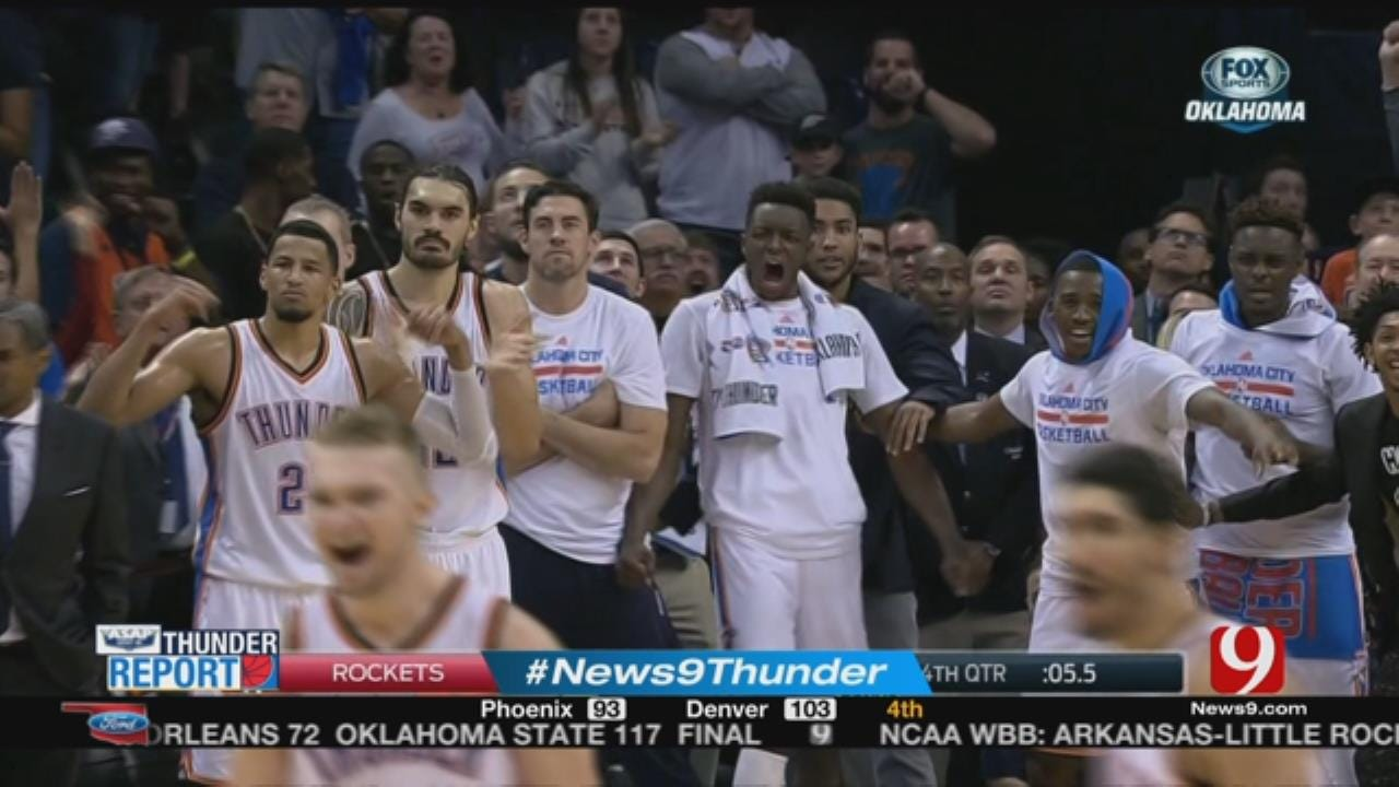 Thunder Snap Losing Streak With 105-103 Win Over Rockets