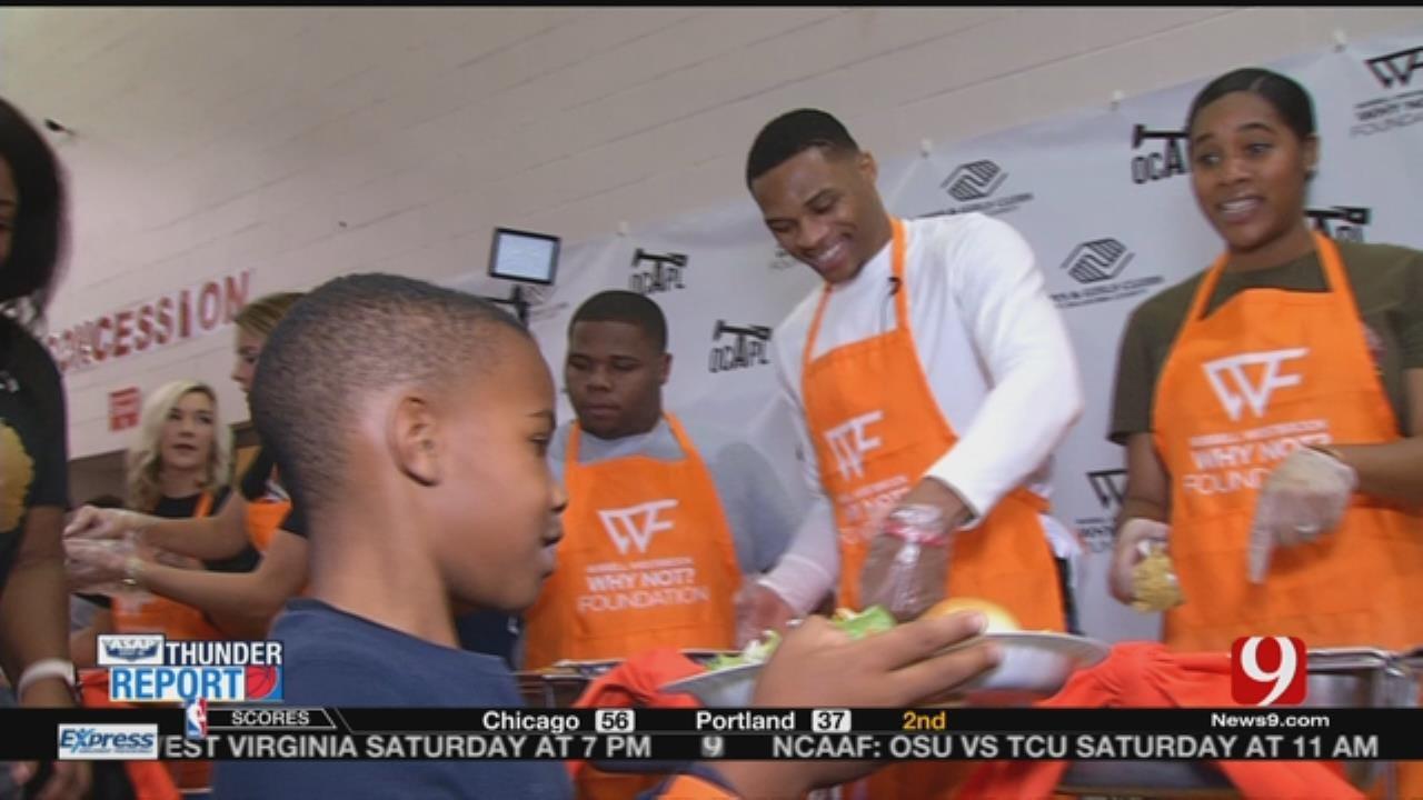 Westbrook Hosts Thanksgiving Event