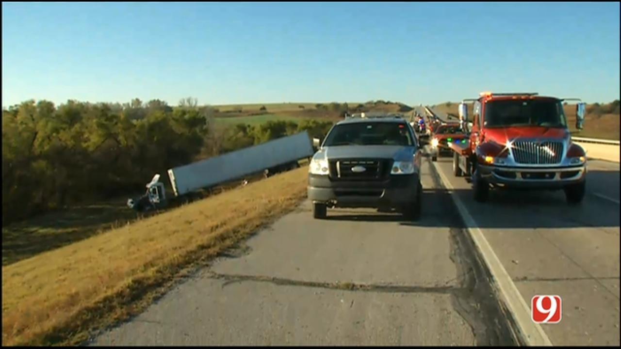 WEB EXTRA: News 9 On Scene Of Fatal Crash In Grady County