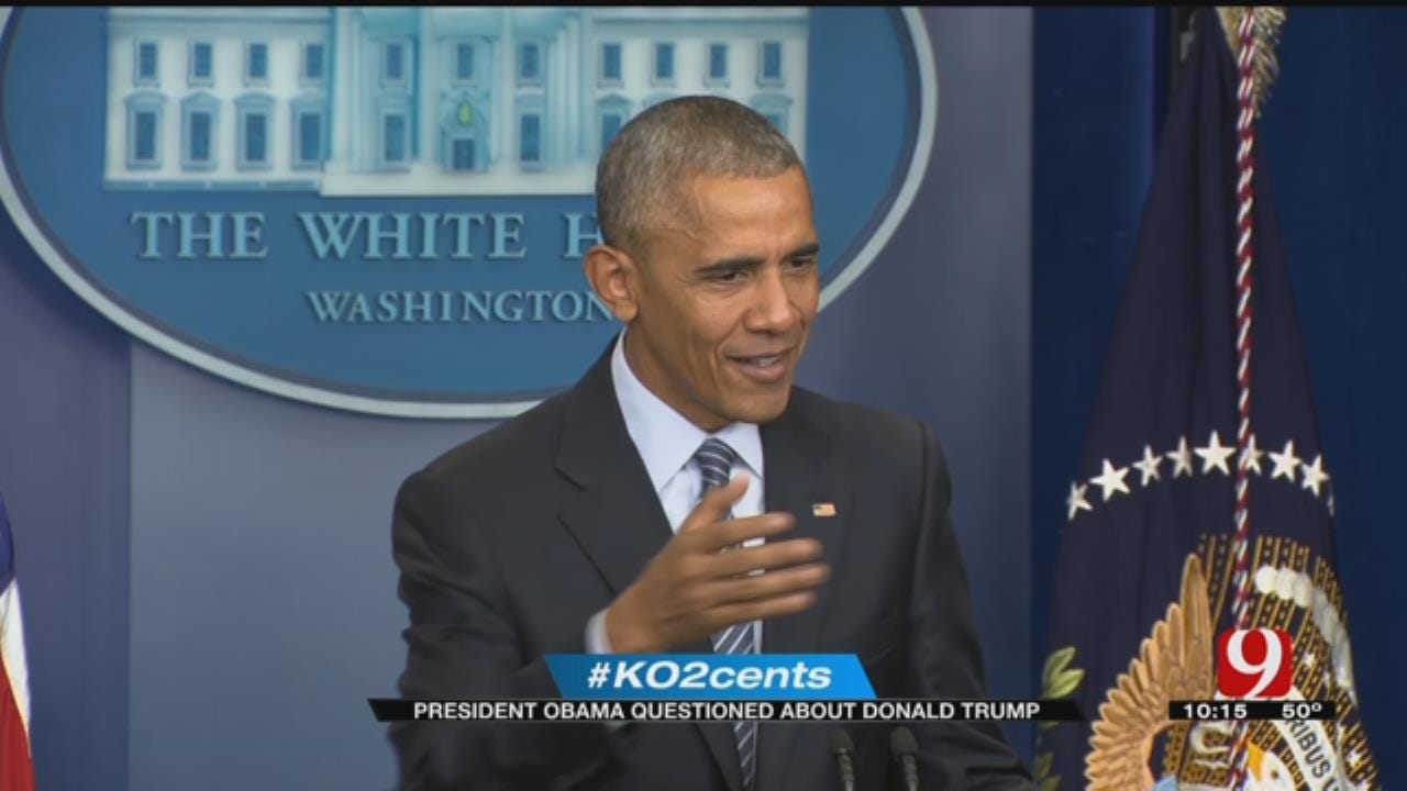 My 2 Cents: President Obama Questioned About Donald Trump
