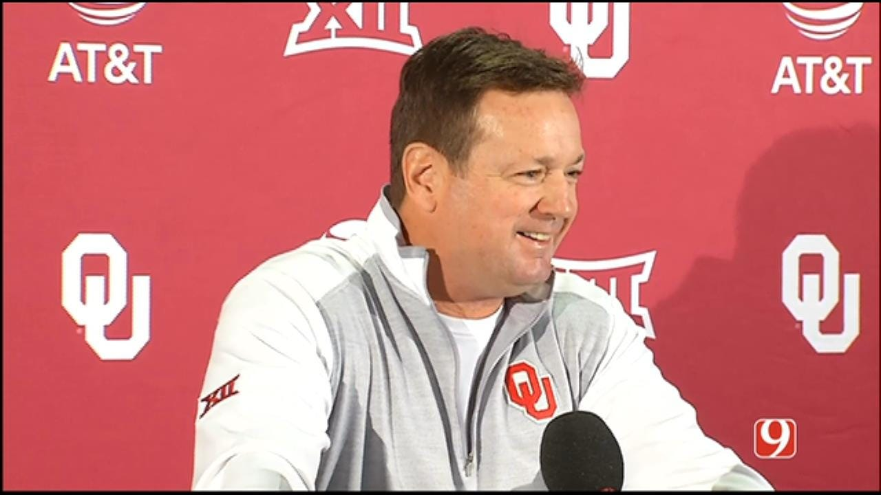 Bob Stoops' Weekly News Conference As OU Gets Set For WVU Matchup